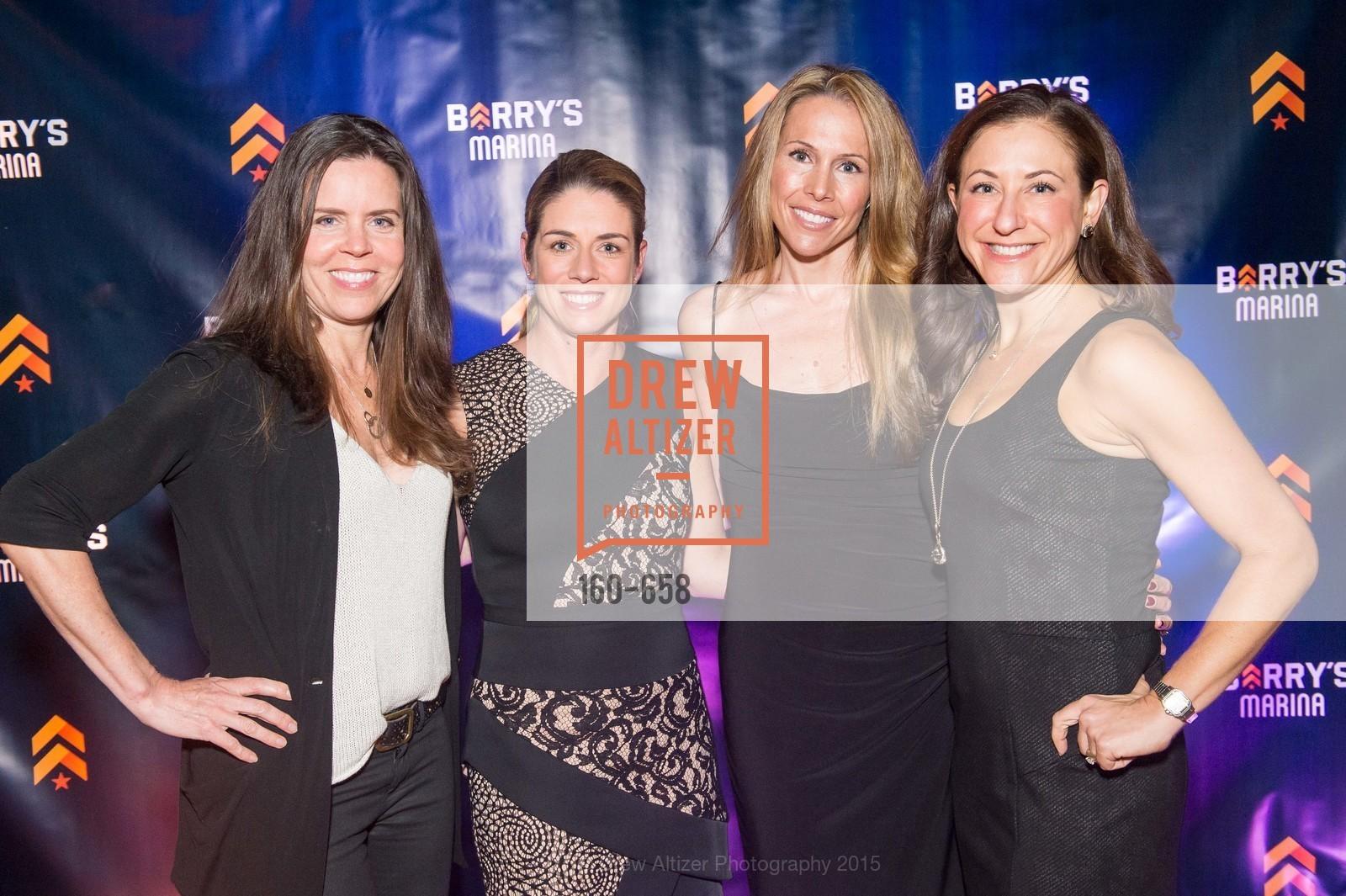 Beth Gray, Liz Farrell, Alex Lyon, Victoria Dade, Barry's Marina Opening, Barry's. 2246 Lombard Street, December 17th, 2015