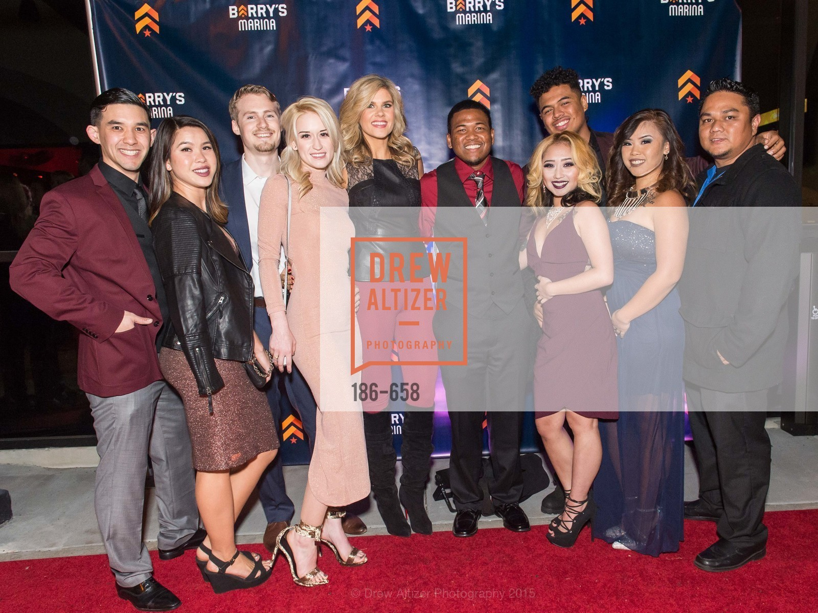 Alex Visico, Amanda Fornato, Riley Johnson, Melanie Tackett, Ali Nowell, TJ Jantock, Roy Hurte, Bonnie Louie, Kianna Louie, Jai Enriquez, Barry's Marina Opening, Barry's. 2246 Lombard Street, December 17th, 2015,Drew Altizer, Drew Altizer Photography, full-service agency, private events, San Francisco photographer, photographer california
