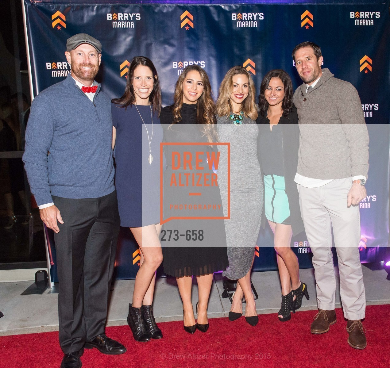 Dan Valine, Kim Spiegelberg, Jessica Bleeker, Rachel Yussim, Kelly Abdelaziz, Sam Yussim, Barry's Marina Opening, Barry's. 2246 Lombard Street, December 17th, 2015,Drew Altizer, Drew Altizer Photography, full-service event agency, private events, San Francisco photographer, photographer California