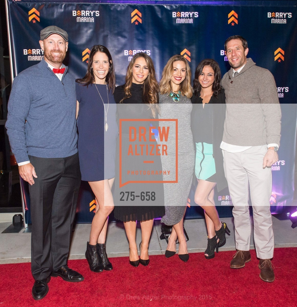 Dan Valine, Kim Spiegelberg, Jessica Bleeker, Rachel Yussim, Kelly Abdelaziz, Sam Yussim, Barry's Marina Opening, Barry's. 2246 Lombard Street, December 17th, 2015,Drew Altizer, Drew Altizer Photography, full-service agency, private events, San Francisco photographer, photographer california