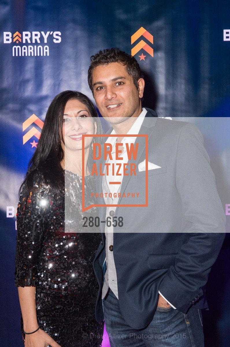 Christina Gile, Sanjeev Gile, Barry's Marina Opening, Barry's. 2246 Lombard Street, December 17th, 2015,Drew Altizer, Drew Altizer Photography, full-service agency, private events, San Francisco photographer, photographer california