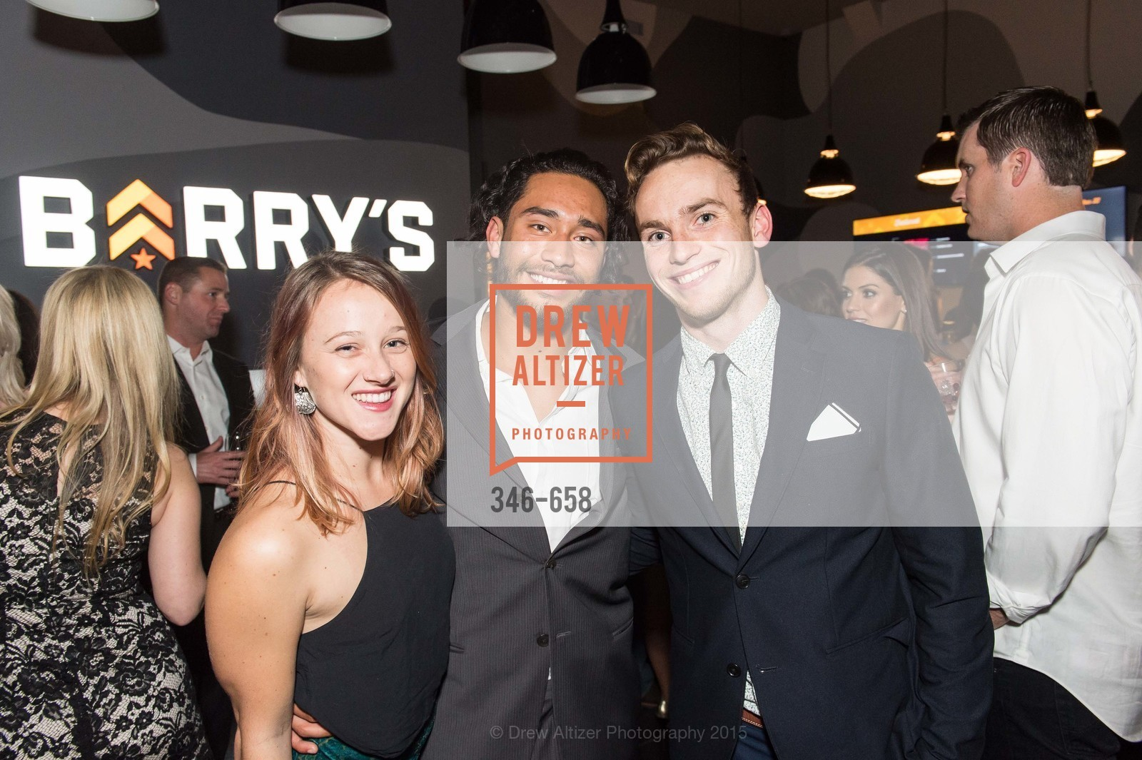 Sarah Marshall, Charlie Mejia, Grey Sanderson, Barry's Marina Opening, Barry's. 2246 Lombard Street, December 17th, 2015,Drew Altizer, Drew Altizer Photography, full-service agency, private events, San Francisco photographer, photographer california