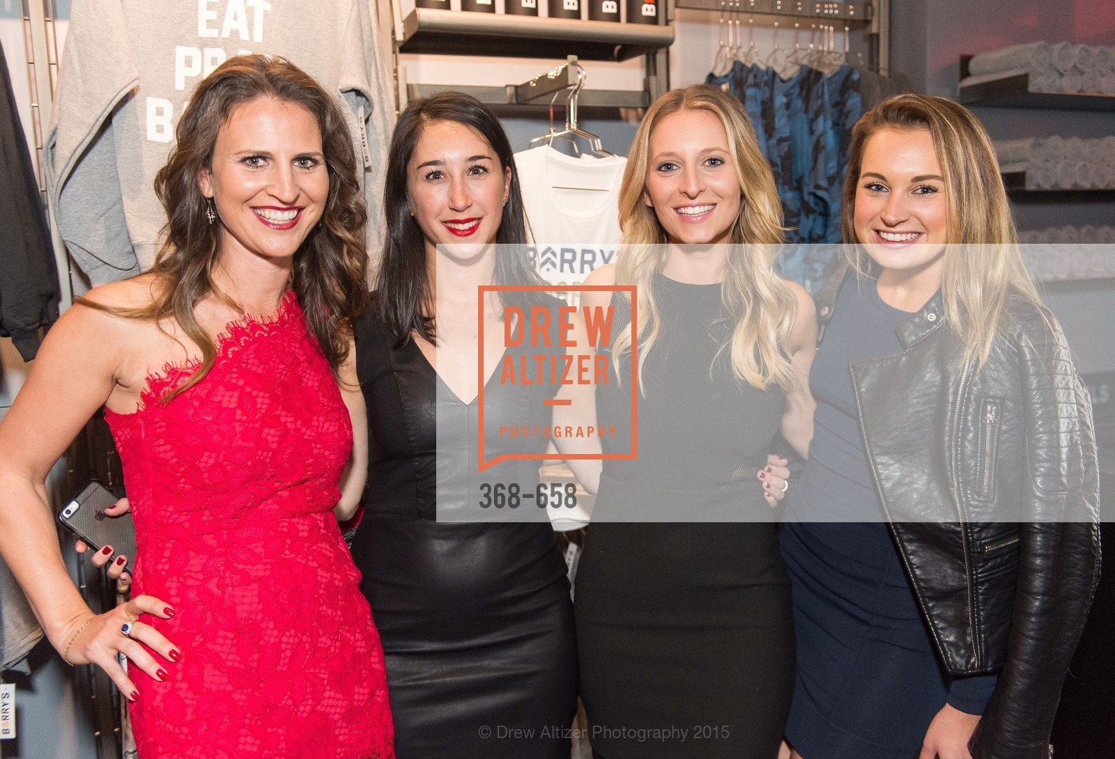 Jennifer Wade, Dina Rosenberg, Nicole Kraft, Nicole Engelhart, Barry's Marina Opening, Barry's. 2246 Lombard Street, December 17th, 2015,Drew Altizer, Drew Altizer Photography, full-service event agency, private events, San Francisco photographer, photographer California