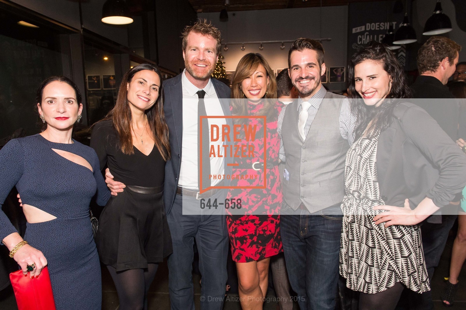 Courtney Dallaire, Kimberly Mulligan, Ian Shea, Joy Boatwright, Ryan Mackley, Michaela Burns, Barry's Marina Opening, Barry's. 2246 Lombard Street, December 17th, 2015,Drew Altizer, Drew Altizer Photography, full-service agency, private events, San Francisco photographer, photographer california
