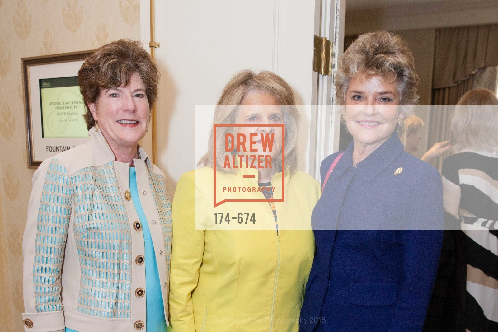 Muriel Wilson, Mary Jo Westwater, Diane Barkley, Junior League of San Francisco's WATCH Luncheon, Fairmont Hotel. 950 Mason Street, May 4th, 2015,Drew Altizer, Drew Altizer Photography, full-service event agency, private events, San Francisco photographer, photographer California