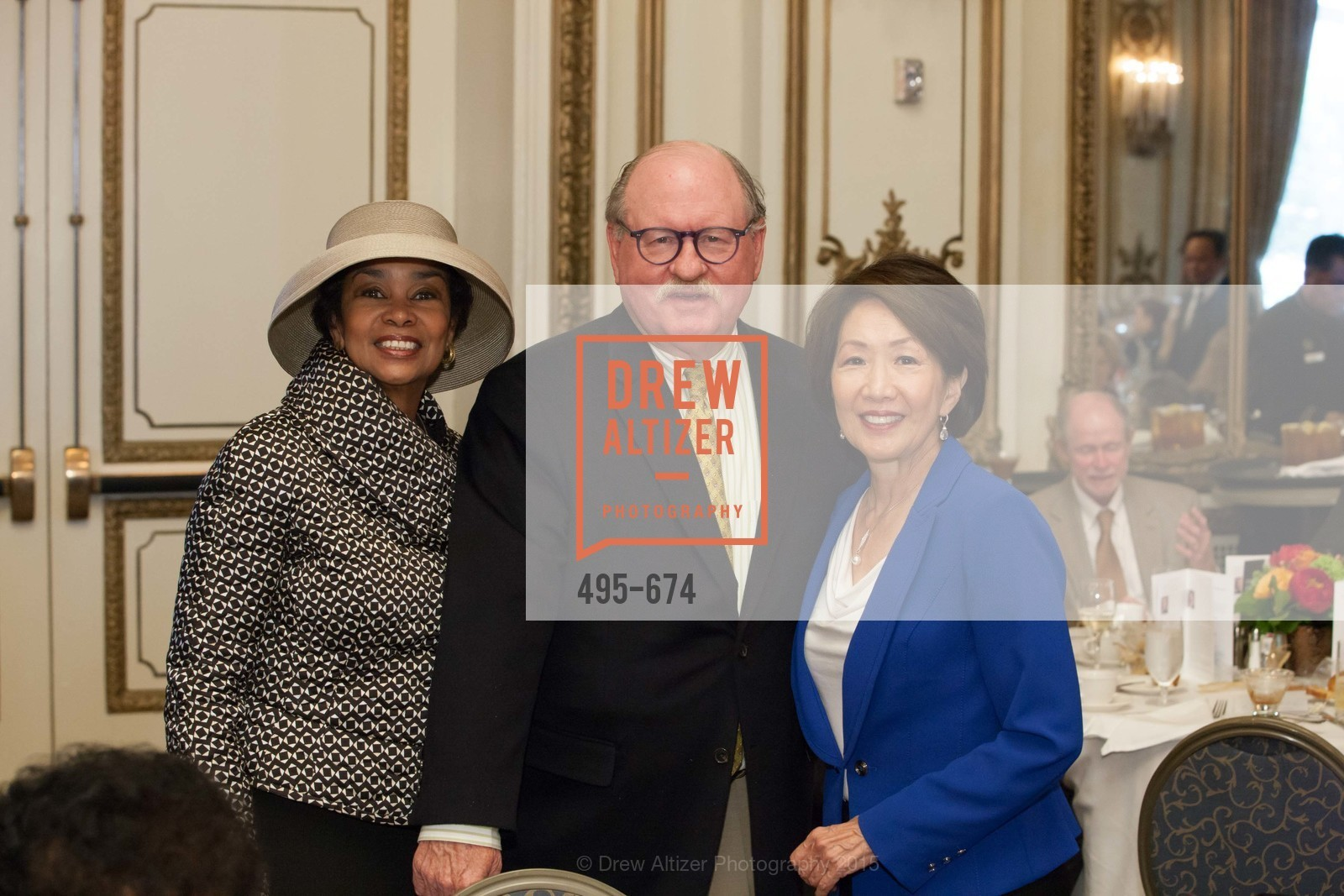 Anette Harris, Ron Mulcare, Jan Yanehiro, Junior League of San Francisco's WATCH Luncheon, Fairmont Hotel. 950 Mason Street, May 4th, 2015,Drew Altizer, Drew Altizer Photography, full-service agency, private events, San Francisco photographer, photographer california