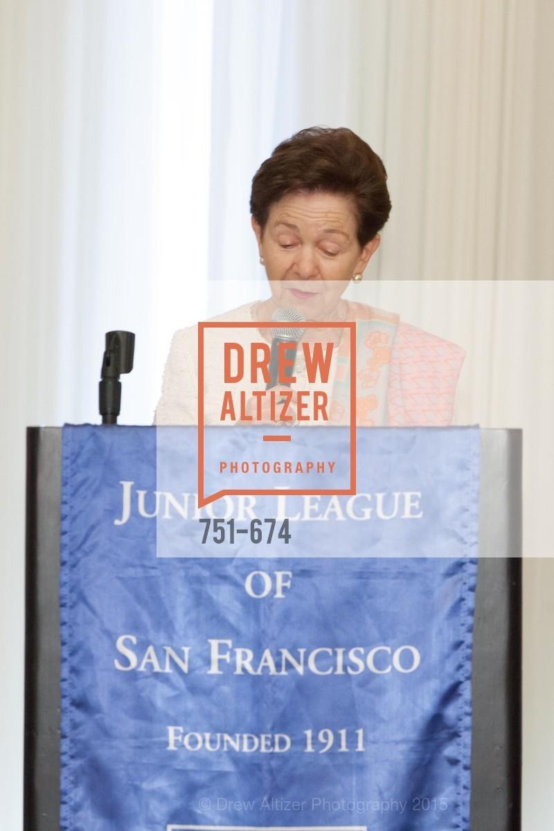 Roselyne Swig, Junior League of San Francisco's WATCH Luncheon, Fairmont Hotel. 950 Mason Street, May 4th, 2015