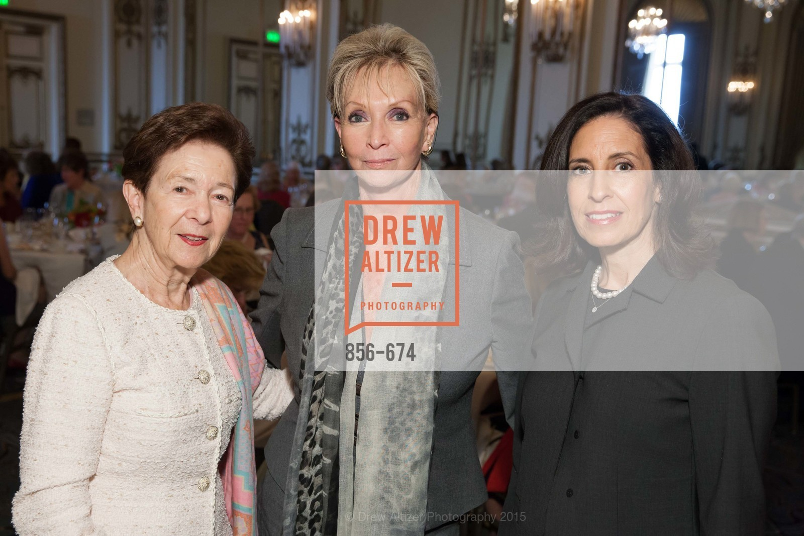 Roselyne Swig, Sallie Huntting, Darian Huntting, Junior League of San Francisco's WATCH Luncheon, Fairmont Hotel. 950 Mason Street, May 4th, 2015,Drew Altizer, Drew Altizer Photography, full-service agency, private events, San Francisco photographer, photographer california