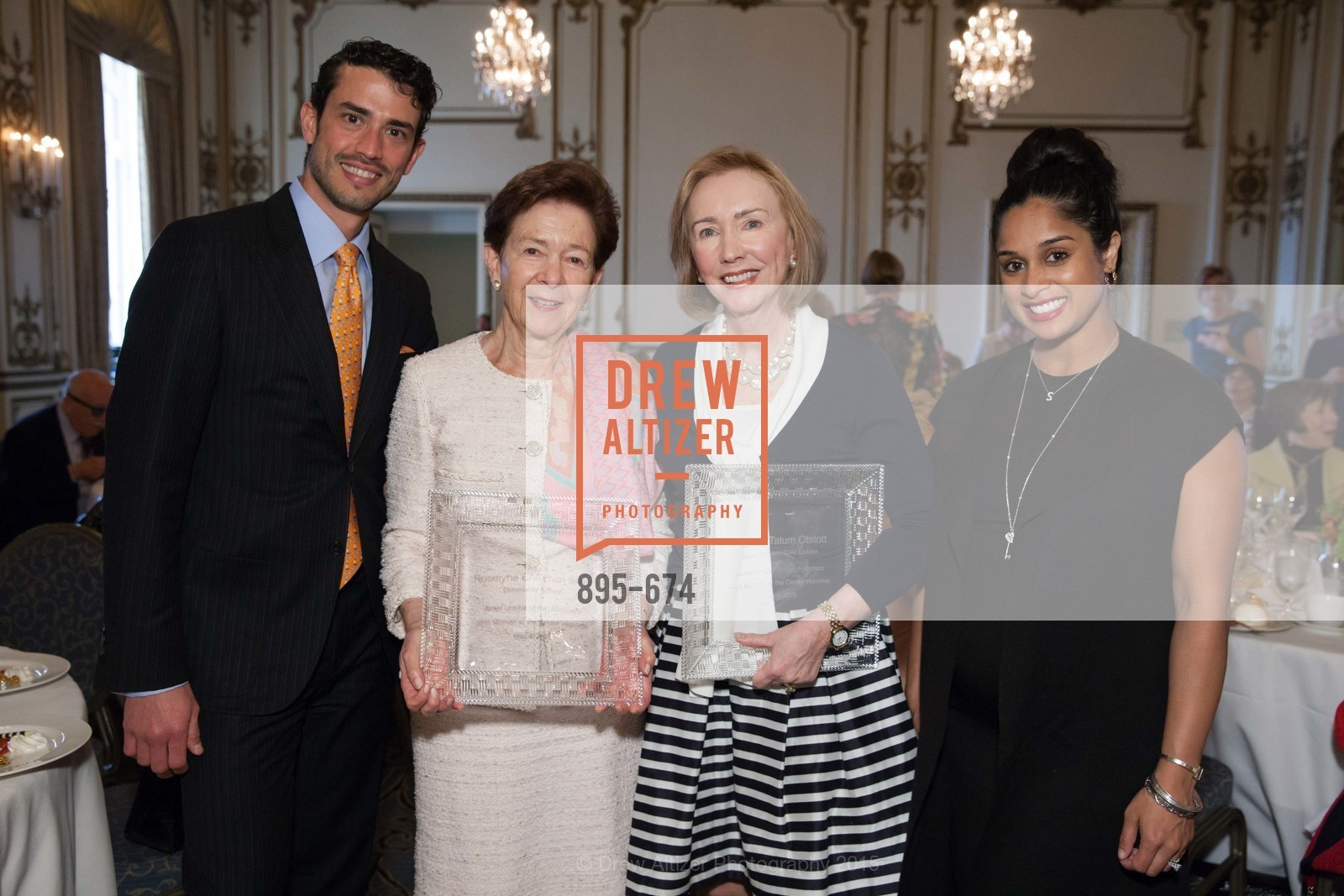 Frederico Soldino, Roselyne Swig, Trish Otstott, Sonia Mondkar-Floyd, Junior League of San Francisco's WATCH Luncheon, Fairmont Hotel. 950 Mason Street, May 4th, 2015,Drew Altizer, Drew Altizer Photography, full-service agency, private events, San Francisco photographer, photographer california