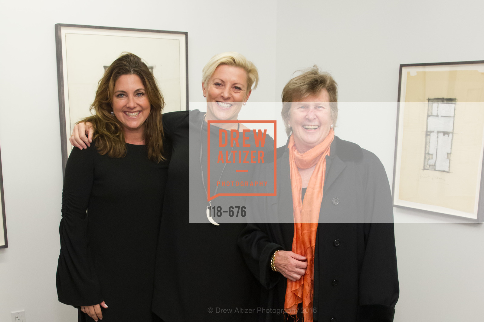 Shawn Pleiman, Carlie Wilmans, Carol Casey, 500 Capp Street Preview Reception, 500 Capp Street Foundation. 500 Capp Street, January 7th, 2016,Drew Altizer, Drew Altizer Photography, full-service event agency, private events, San Francisco photographer, photographer California