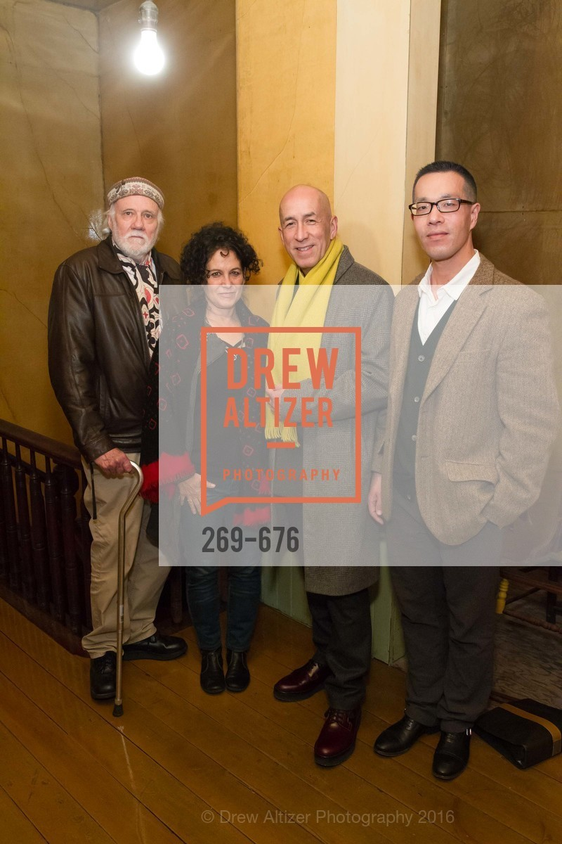 Mac McGinnis, Amy Trachtenberg, Ed Gilbert, Kern Shin, 500 Capp Street Preview Reception, 500 Capp Street Foundation. 500 Capp Street, January 7th, 2016,Drew Altizer, Drew Altizer Photography, full-service event agency, private events, San Francisco photographer, photographer California