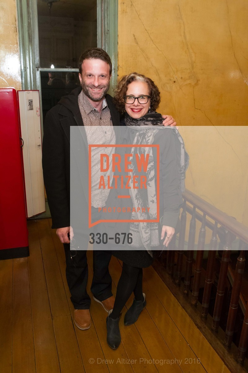 David Gissen, Rachel Schreiber, 500 Capp Street Preview Reception, 500 Capp Street Foundation. 500 Capp Street, January 7th, 2016,Drew Altizer, Drew Altizer Photography, full-service agency, private events, San Francisco photographer, photographer california