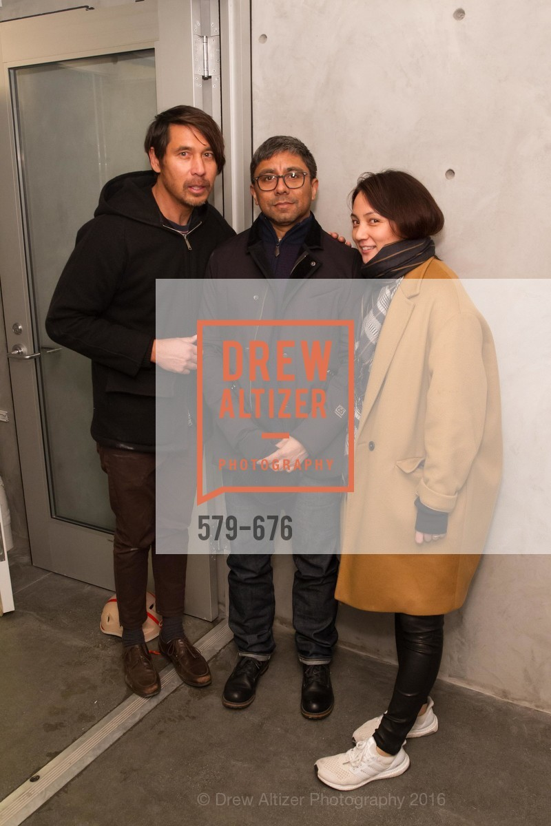Ray Virgil, Chris Perez, Makiko Fujikawa, 500 Capp Street Preview Reception, 500 Capp Street Foundation. 500 Capp Street, January 7th, 2016,Drew Altizer, Drew Altizer Photography, full-service agency, private events, San Francisco photographer, photographer california