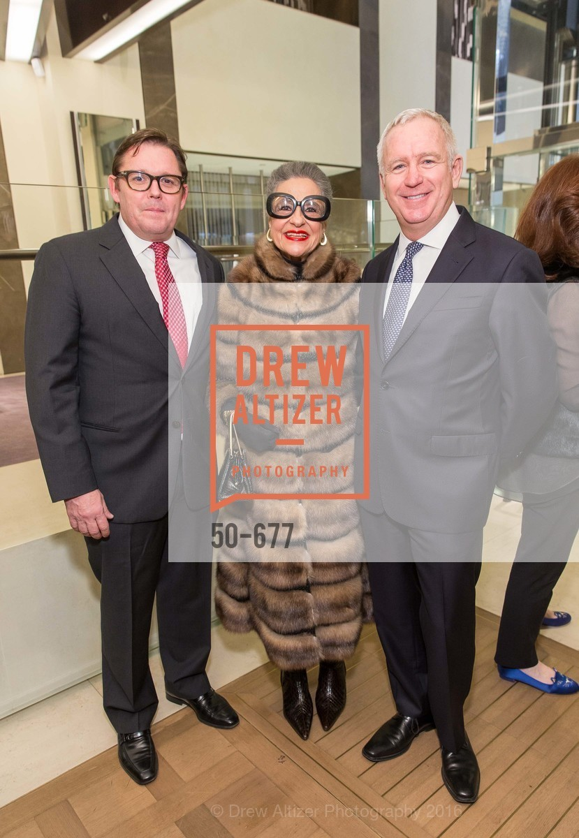 Michael Manning, Joy Venturini Bianchi, Glenn McCoy, Bulgari Hosts The 2016 Ballet Gala Patrons Party, Bulgari. 200 Stockton st, January 7th, 2016,Drew Altizer, Drew Altizer Photography, full-service agency, private events, San Francisco photographer, photographer california
