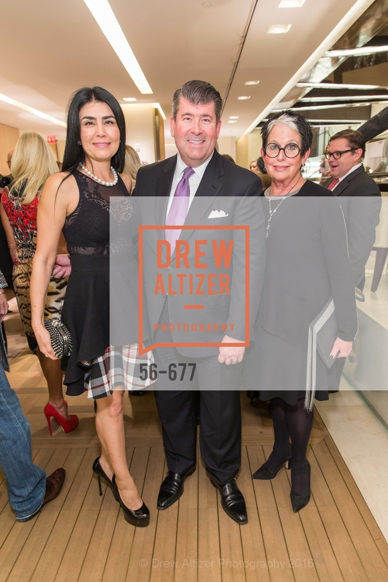 Afsaneh Akhtari, Alan Morrell, Karen Kubin, Bulgari Hosts The 2016 Ballet Gala Patrons Party, Bulgari. 200 Stockton st, January 7th, 2016,Drew Altizer, Drew Altizer Photography, full-service agency, private events, San Francisco photographer, photographer california