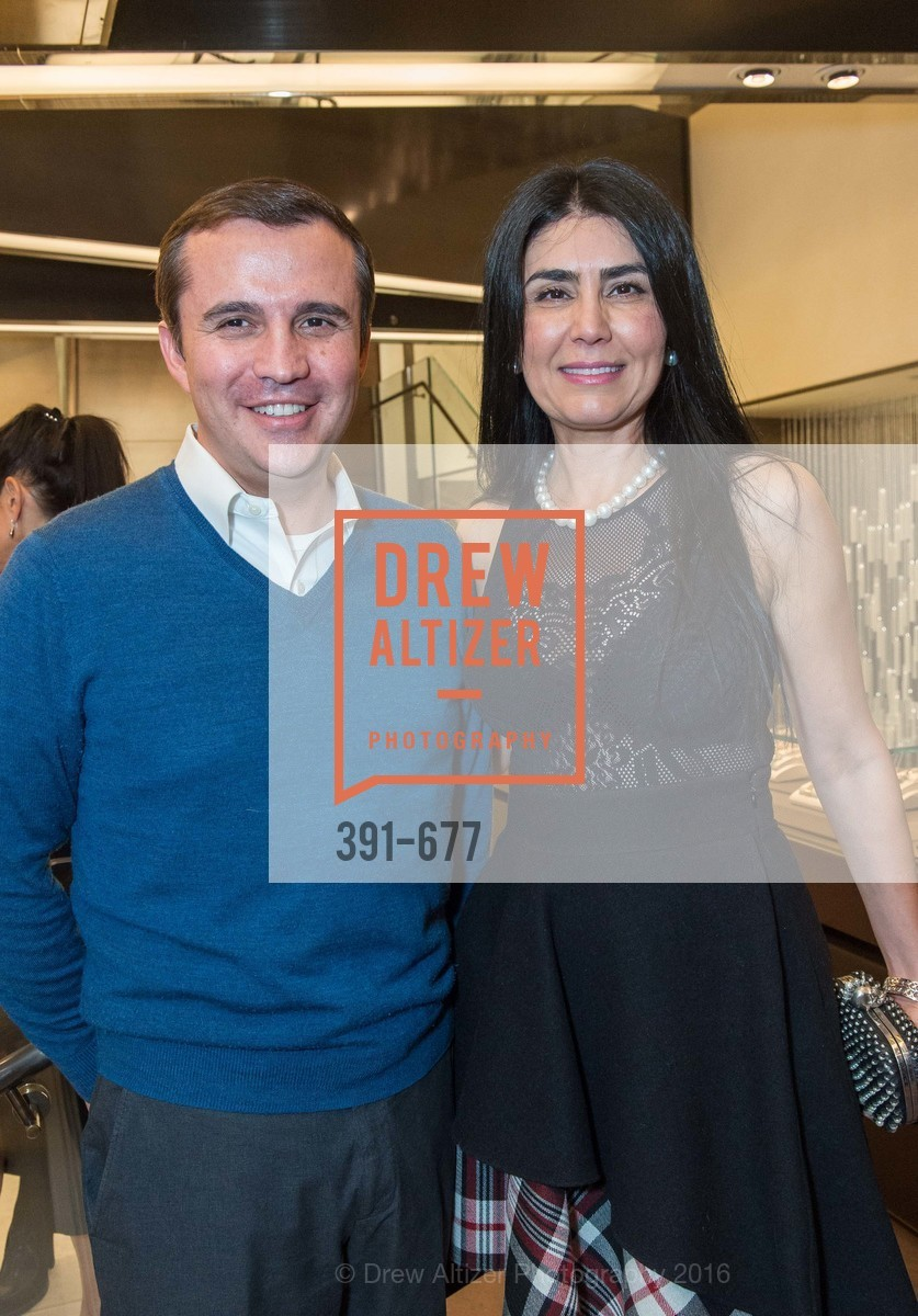 Jorge Jaramillo, Afsaneh Akhtari, Bulgari Hosts The 2016 Ballet Gala Patrons Party, Bulgari. 200 Stockton st, January 7th, 2016,Drew Altizer, Drew Altizer Photography, full-service agency, private events, San Francisco photographer, photographer california