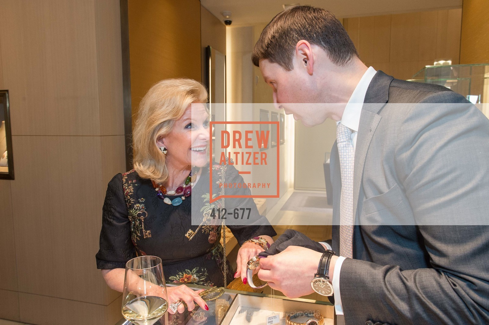 Dede Wilsey, Ivan Bekichev, Bulgari Hosts The 2016 Ballet Gala Patrons Party, Bulgari. 200 Stockton st, January 7th, 2016,Drew Altizer, Drew Altizer Photography, full-service agency, private events, San Francisco photographer, photographer california