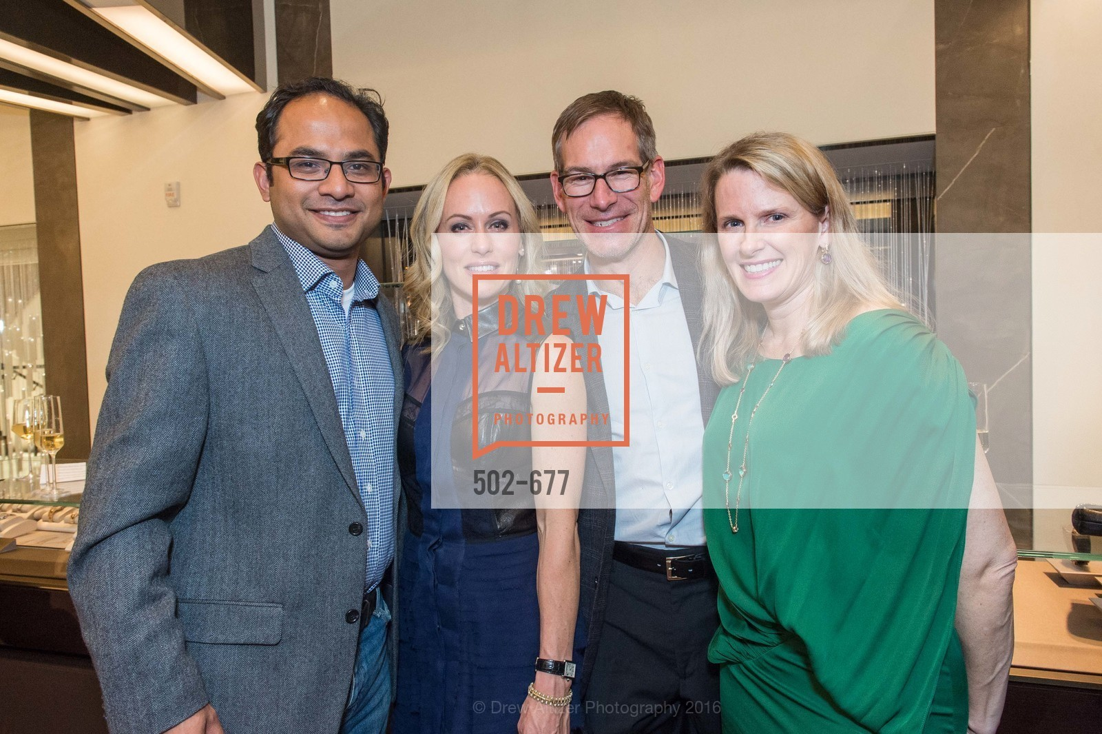 Mainul Mondal, Holly Hollenbeck, Chris Hollenbeck, Marie Hurabiell, Bulgari Hosts The 2016 Ballet Gala Patrons Party, Bulgari. 200 Stockton st, January 7th, 2016,Drew Altizer, Drew Altizer Photography, full-service agency, private events, San Francisco photographer, photographer california