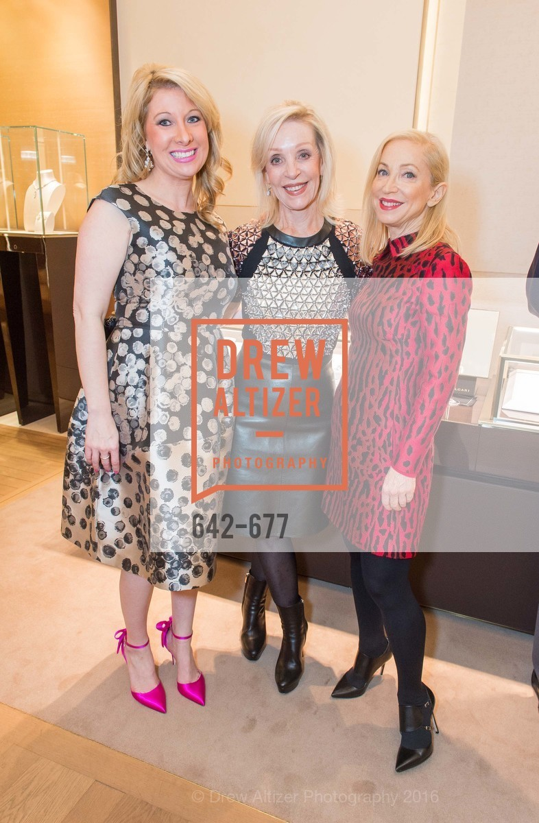 Jennifer Mancuso, Barbara Brown, Shelley Gordon, Bulgari Hosts The 2016 Ballet Gala Patrons Party, Bulgari. 200 Stockton st, January 7th, 2016,Drew Altizer, Drew Altizer Photography, full-service agency, private events, San Francisco photographer, photographer california
