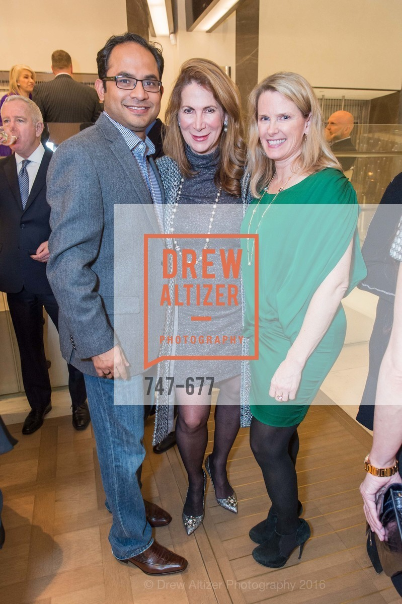 Mainul Mondal, Patricia Ferrin Loucks, Marie Hurabiell, Bulgari Hosts The 2016 Ballet Gala Patrons Party, Bulgari. 200 Stockton st, January 7th, 2016,Drew Altizer, Drew Altizer Photography, full-service agency, private events, San Francisco photographer, photographer california