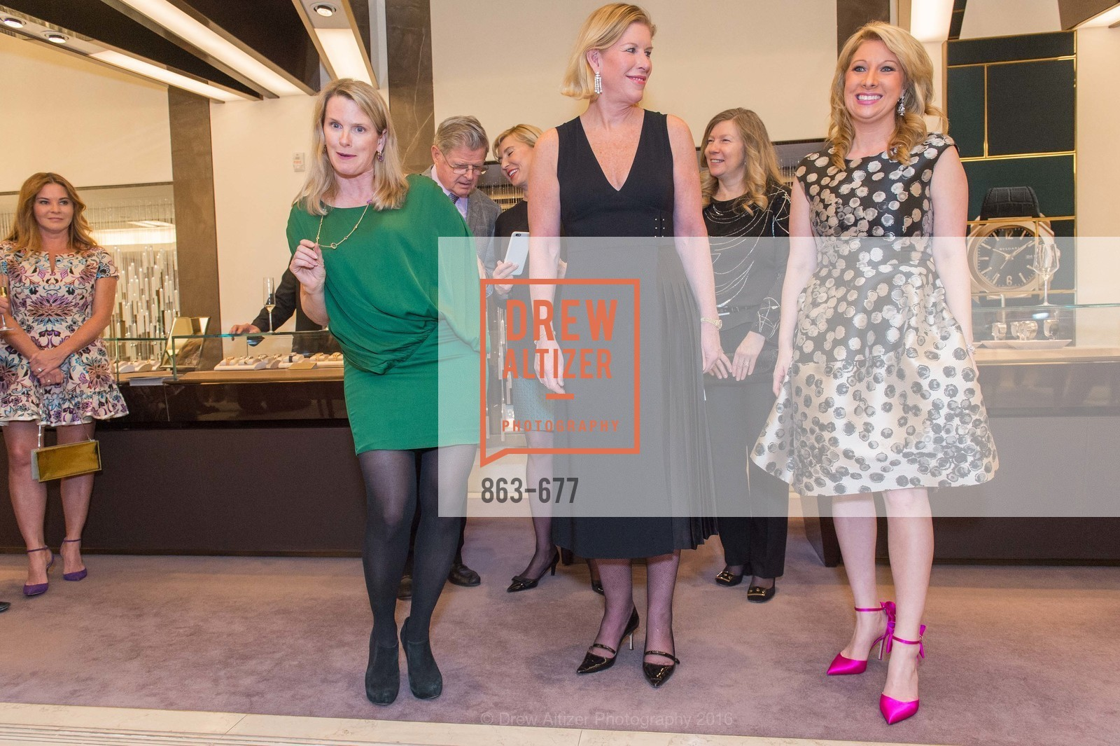 Marie Hurabiell, Jennifer Brandenburg, Jennifer Mancuso, Bulgari Hosts The 2016 Ballet Gala Patrons Party, Bulgari. 200 Stockton st, January 7th, 2016,Drew Altizer, Drew Altizer Photography, full-service agency, private events, San Francisco photographer, photographer california