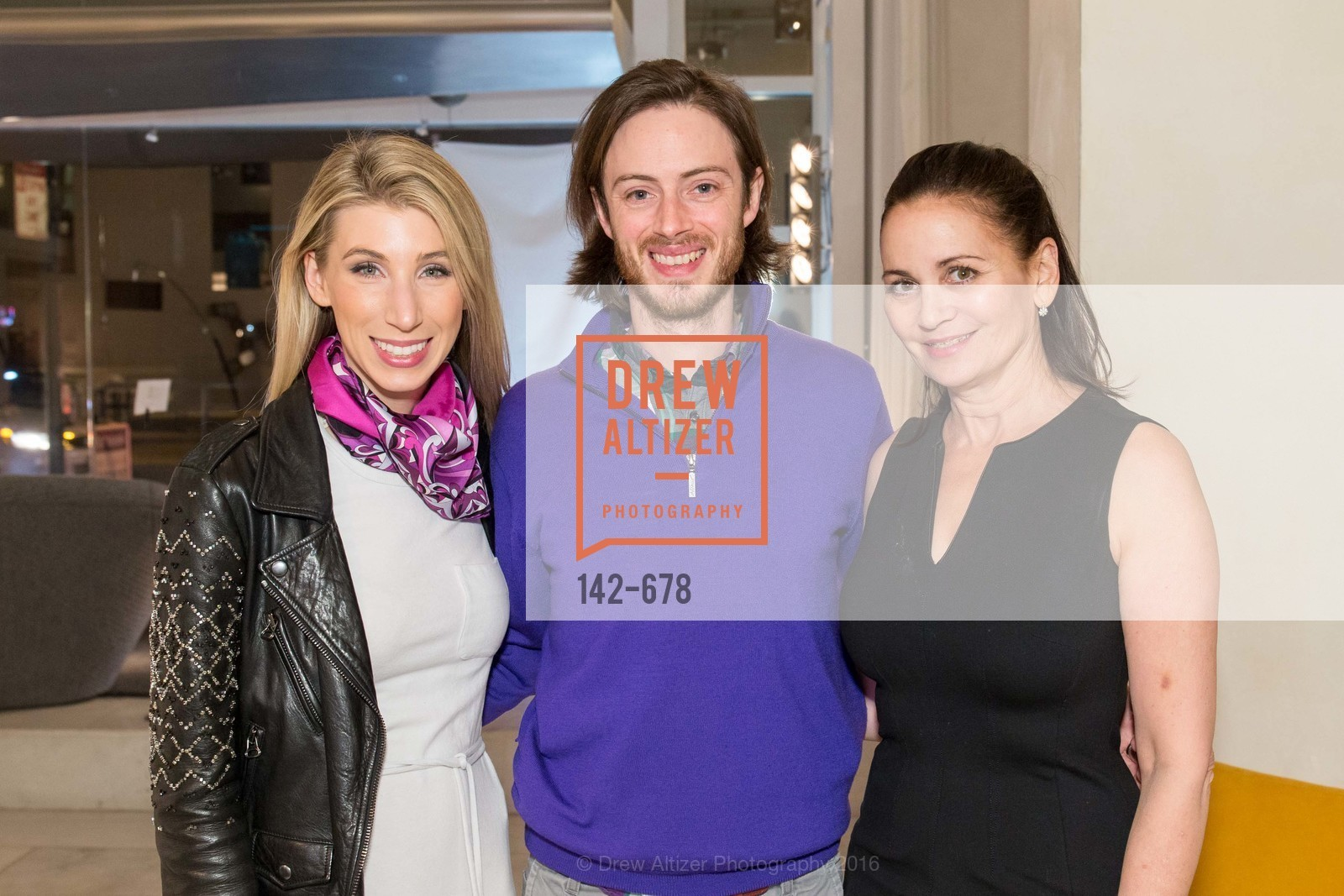 Maggie Winterfeldt Clark, Chris Clark, Jane Burkhard, 2016 ENCORE! Launch Party, Ligne Roset. 162 King Street, January 7th, 2016,Drew Altizer, Drew Altizer Photography, full-service agency, private events, San Francisco photographer, photographer california