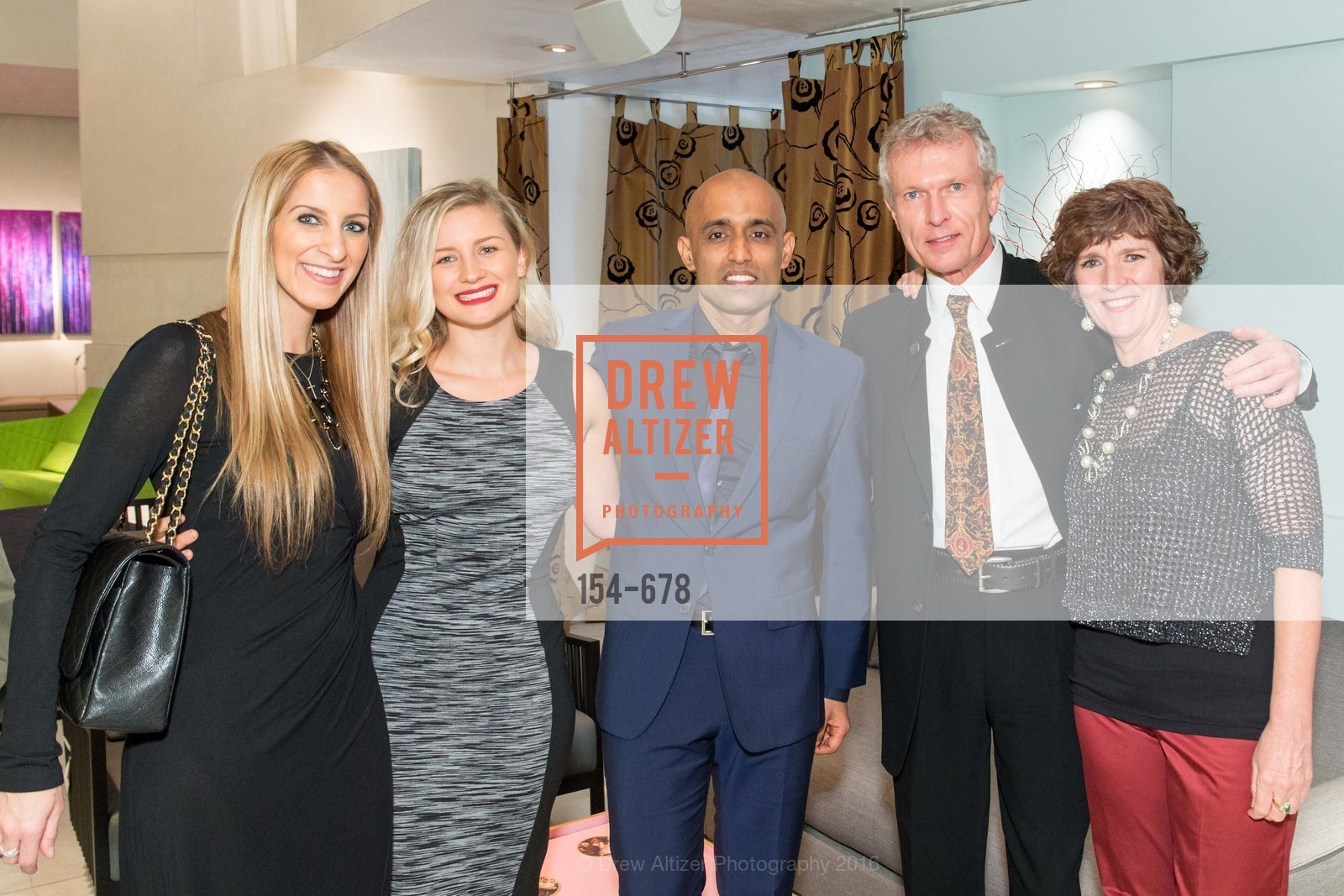 Victoria Gazulis, Skye Grace, Sunil Sharma, Walter Dickhaut, Denise Beatty, 2016 ENCORE! Launch Party, Ligne Roset. 162 King Street, January 7th, 2016,Drew Altizer, Drew Altizer Photography, full-service agency, private events, San Francisco photographer, photographer california
