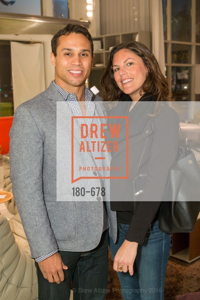 Oscar Santiago, Rachel Hall, 2016 ENCORE! Launch Party, Ligne Roset. 162 King Street, January 7th, 2016,Drew Altizer, Drew Altizer Photography, full-service agency, private events, San Francisco photographer, photographer california
