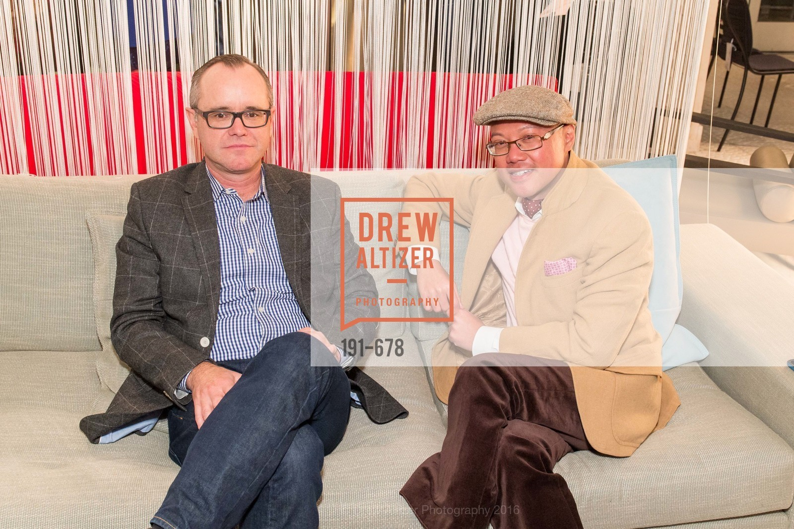 Grant Kalinowski, Peter Nguyen, 2016 ENCORE! Launch Party, Ligne Roset. 162 King Street, January 7th, 2016,Drew Altizer, Drew Altizer Photography, full-service agency, private events, San Francisco photographer, photographer california
