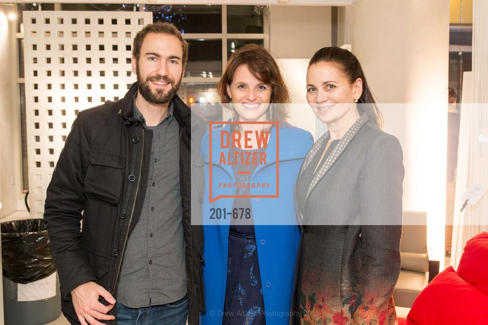 Michael Burnett, Alyson Blume, Jane Burkhard, 2016 ENCORE! Launch Party, Ligne Roset. 162 King Street, January 7th, 2016,Drew Altizer, Drew Altizer Photography, full-service agency, private events, San Francisco photographer, photographer california