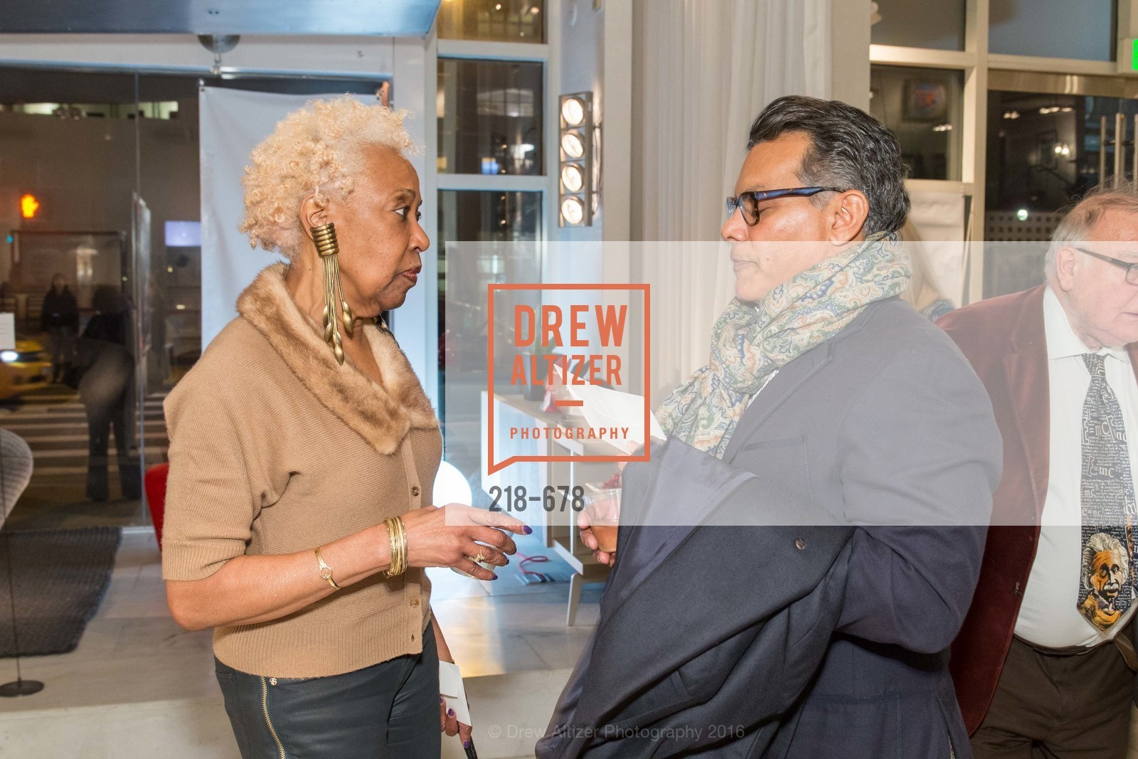 Elba McIntosh, Rich Hanif, 2016 ENCORE! Launch Party, Ligne Roset. 162 King Street, January 7th, 2016,Drew Altizer, Drew Altizer Photography, full-service agency, private events, San Francisco photographer, photographer california