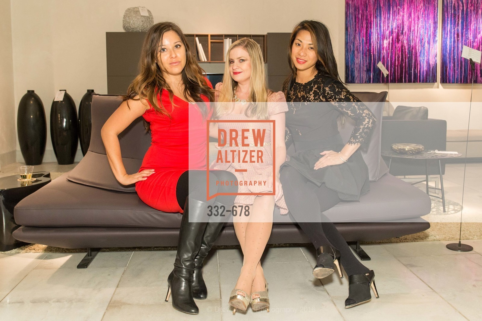Angela Romero, Julie Hall, Leanne Lai, 2016 ENCORE! Launch Party, Ligne Roset. 162 King Street, January 7th, 2016,Drew Altizer, Drew Altizer Photography, full-service agency, private events, San Francisco photographer, photographer california