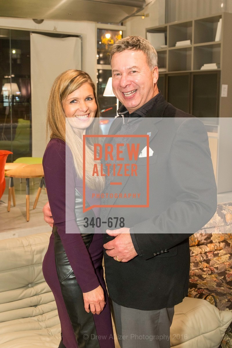 Simona Barborikova, Michael Verdone, 2016 ENCORE! Launch Party, Ligne Roset. 162 King Street, January 7th, 2016,Drew Altizer, Drew Altizer Photography, full-service agency, private events, San Francisco photographer, photographer california