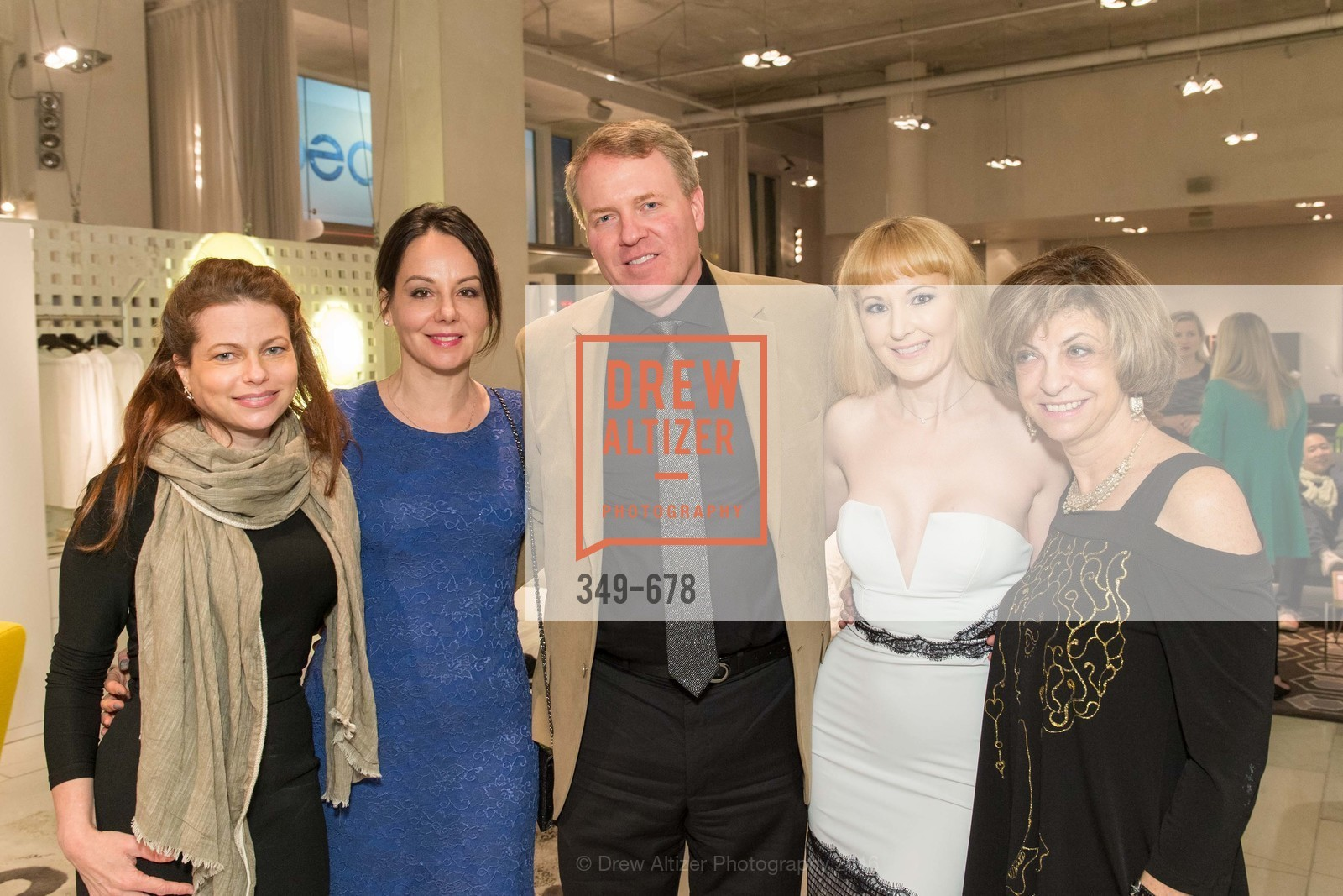 Christina Erickson, Gergana Gallacher, Matthew Verkler, Shannyn Bessoni, Ludmila Eggleton, 2016 ENCORE! Launch Party, Ligne Roset. 162 King Street, January 7th, 2016,Drew Altizer, Drew Altizer Photography, full-service agency, private events, San Francisco photographer, photographer california