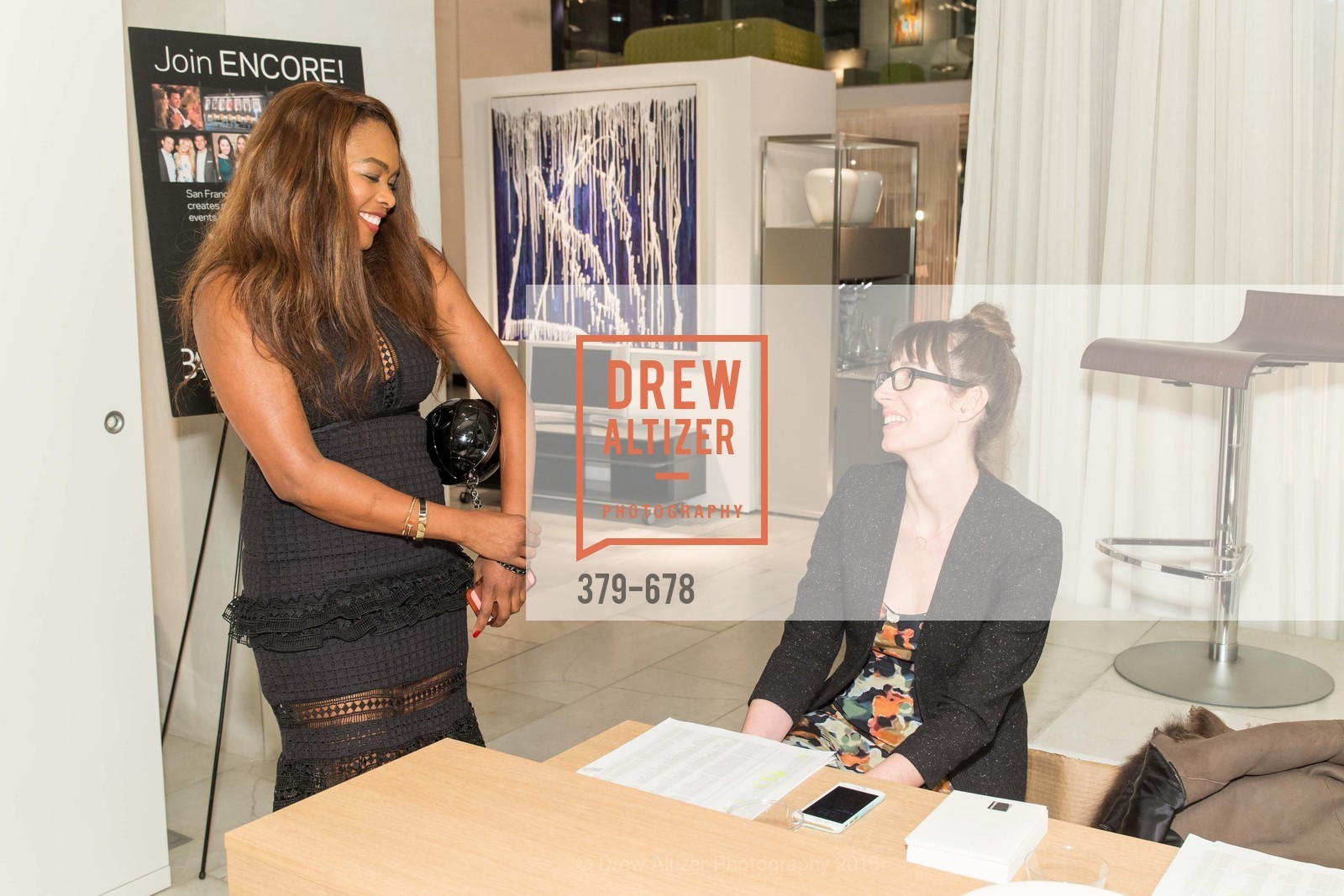 Vanessa Jean-Baptiste, April Johnston, 2016 ENCORE! Launch Party, Ligne Roset. 162 King Street, January 7th, 2016,Drew Altizer, Drew Altizer Photography, full-service agency, private events, San Francisco photographer, photographer california