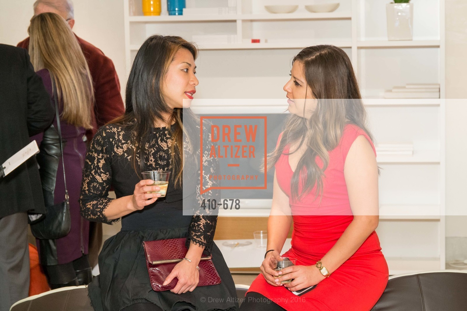 Leanne Lai, Angela Romero, 2016 ENCORE! Launch Party, Ligne Roset. 162 King Street, January 7th, 2016,Drew Altizer, Drew Altizer Photography, full-service agency, private events, San Francisco photographer, photographer california