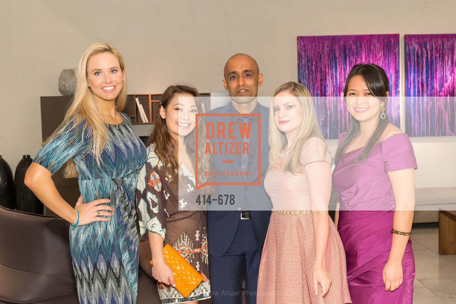 Elizabeth Sgarrella, Kelcie Lee, Sunil Sharma, Julie Hall, Angela Zhang, 2016 ENCORE! Launch Party, Ligne Roset. 162 King Street, January 7th, 2016,Drew Altizer, Drew Altizer Photography, full-service agency, private events, San Francisco photographer, photographer california