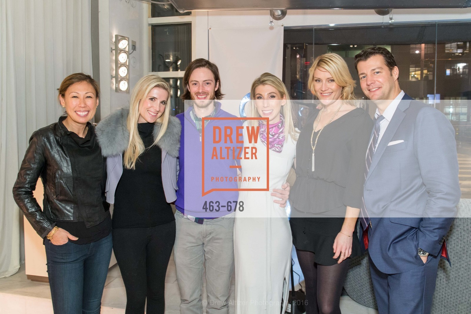 Joy Boatwright, Samantha Hartwell, Chris Clark, Maggie Winterfeldt Clark, Sarah Eckersley, Matt Whall, 2016 ENCORE! Launch Party, Ligne Roset. 162 King Street, January 7th, 2016,Drew Altizer, Drew Altizer Photography, full-service agency, private events, San Francisco photographer, photographer california