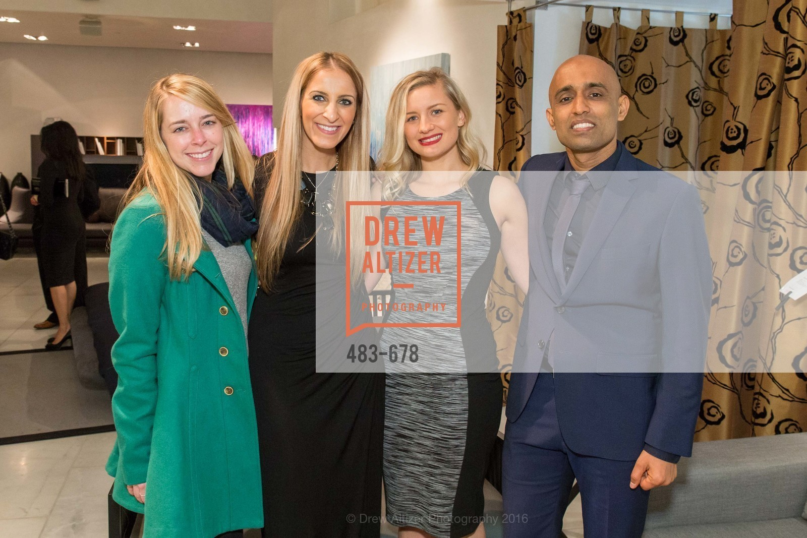 Colleen Pettit, Victoria Gazulis, Skye Grace, Sunil Sharma, 2016 ENCORE! Launch Party, Ligne Roset. 162 King Street, January 7th, 2016