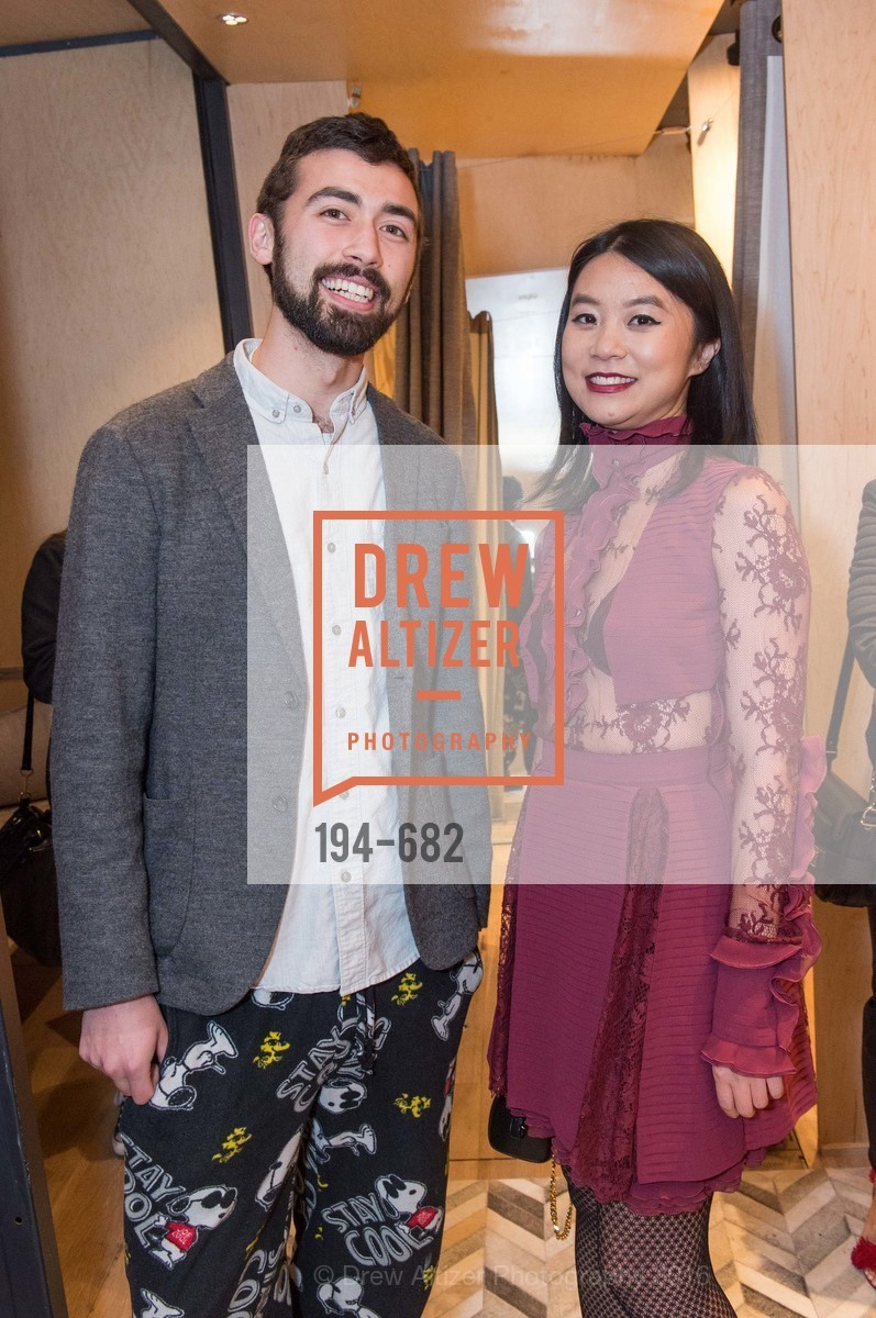 Evan Stites, Michelle Lam, Michelle Lam hosts the launch of True&Co.'s Try-on Truck National Tour, MatrixFillmore. 3138 Fillmore, January 12th, 2016,Drew Altizer, Drew Altizer Photography, full-service agency, private events, San Francisco photographer, photographer california