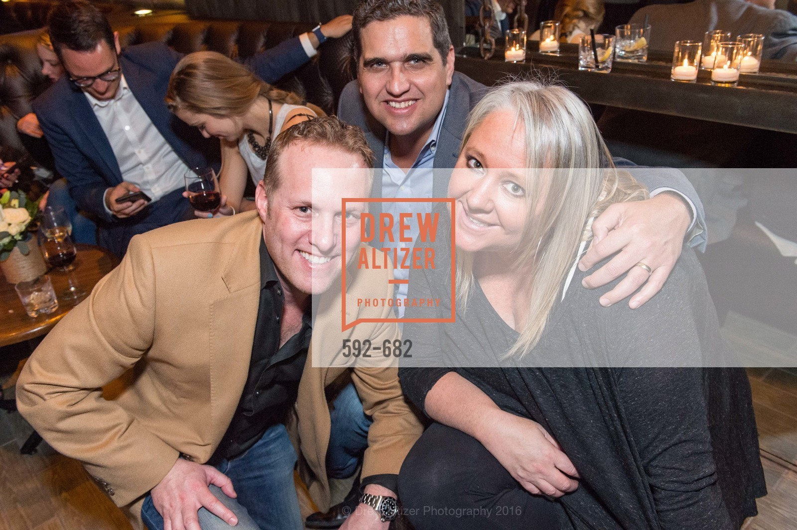 Michael Ehrlich, Peter Stern, Lori Pucinelli Stern, Michelle Lam hosts the launch of True&Co.'s Try-on Truck National Tour, MatrixFillmore. 3138 Fillmore, January 12th, 2016,Drew Altizer, Drew Altizer Photography, full-service agency, private events, San Francisco photographer, photographer california