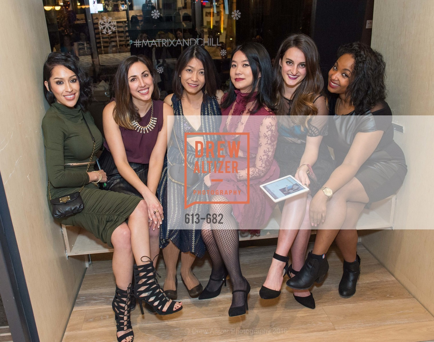 Crystal Garza, Beatrice Pang, Michelle Lam, Kat Menard, Arianna Perez, Michelle Lam hosts the launch of True&Co.'s Try-on Truck National Tour, MatrixFillmore. 3138 Fillmore, January 12th, 2016,Drew Altizer, Drew Altizer Photography, full-service agency, private events, San Francisco photographer, photographer california