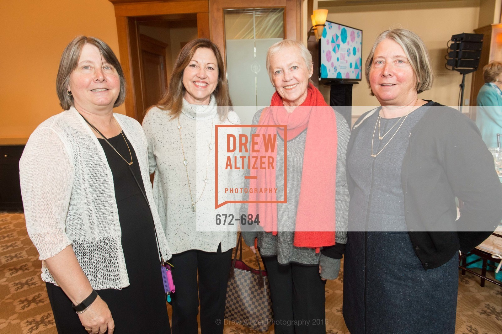 Kat Simmons, Kathleen McGinn, Marilyn Weinberg, Karen Wagner, Under One Umbrella, Sharon Heights Golf and Country Club, January 13th, 2016,Drew Altizer, Drew Altizer Photography, full-service agency, private events, San Francisco photographer, photographer california
