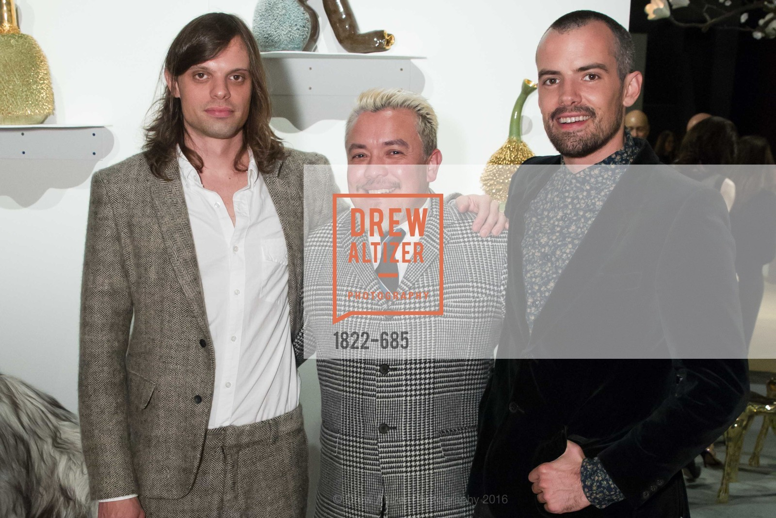 Nikolai Haas, Victor Vargas, Simon Haas, FOG Design+Art Preview Gala, Fort Mason Center Festival Pavilion, January 13th, 2016,Drew Altizer, Drew Altizer Photography, full-service agency, private events, San Francisco photographer, photographer california