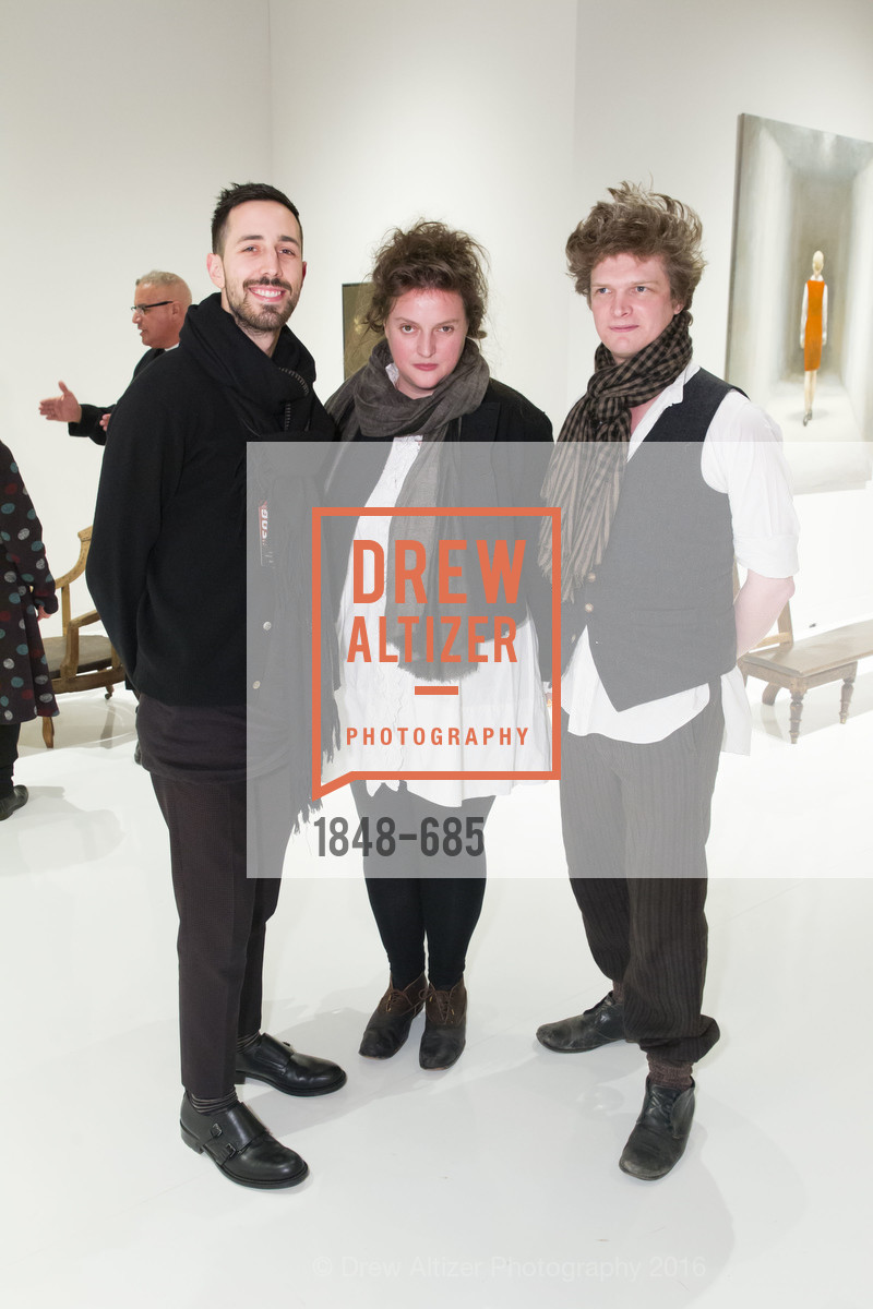 Justin Coates, Hannah Plumb, James Russell, FOG Design+Art Preview Gala, Fort Mason Center Festival Pavilion, January 13th, 2016,Drew Altizer, Drew Altizer Photography, full-service agency, private events, San Francisco photographer, photographer california