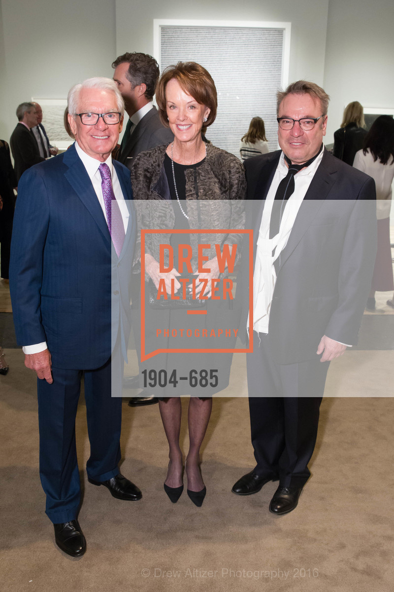 Chuck Schwab, Helen Schwab, Stanlee Gatti, FOG Design+Art Preview Gala, Fort Mason Center Festival Pavilion, January 13th, 2016,Drew Altizer, Drew Altizer Photography, full-service agency, private events, San Francisco photographer, photographer california