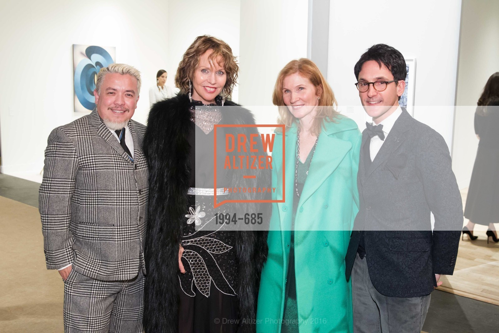 Victor Vargas, Christine Suppes, Margaret Pluvinage, James Krohn, FOG Design+Art Preview Gala, Fort Mason Center Festival Pavilion, January 13th, 2016,Drew Altizer, Drew Altizer Photography, full-service event agency, private events, San Francisco photographer, photographer California