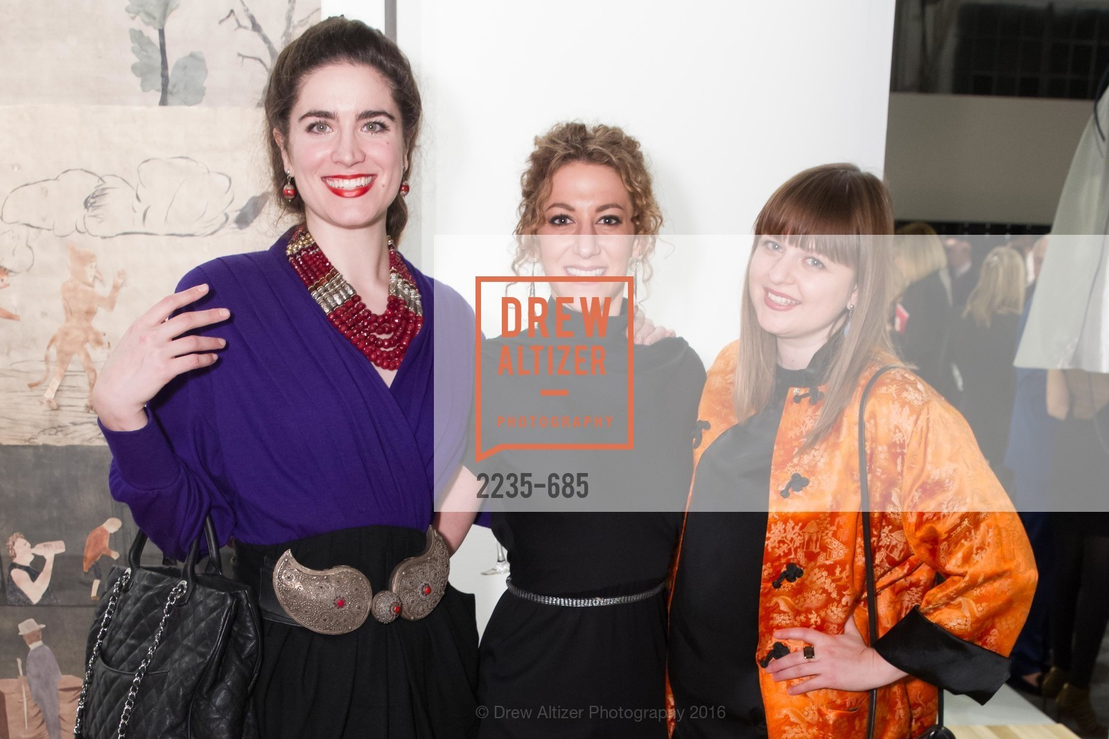 Larissa Archer, Lyla Holdstein, Alexis Gordon, FOG Design+Art Preview Gala, Fort Mason Center Festival Pavilion, January 13th, 2016,Drew Altizer, Drew Altizer Photography, full-service agency, private events, San Francisco photographer, photographer california