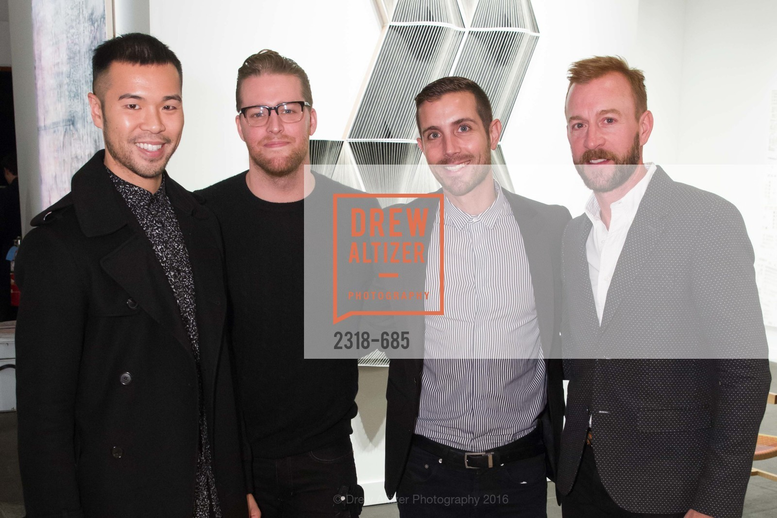 Lance Lin, Jared Levan, Michael Gonzalvez, Michael Purdy, FOG Design+Art Preview Gala, Fort Mason Center Festival Pavilion, January 13th, 2016,Drew Altizer, Drew Altizer Photography, full-service agency, private events, San Francisco photographer, photographer california