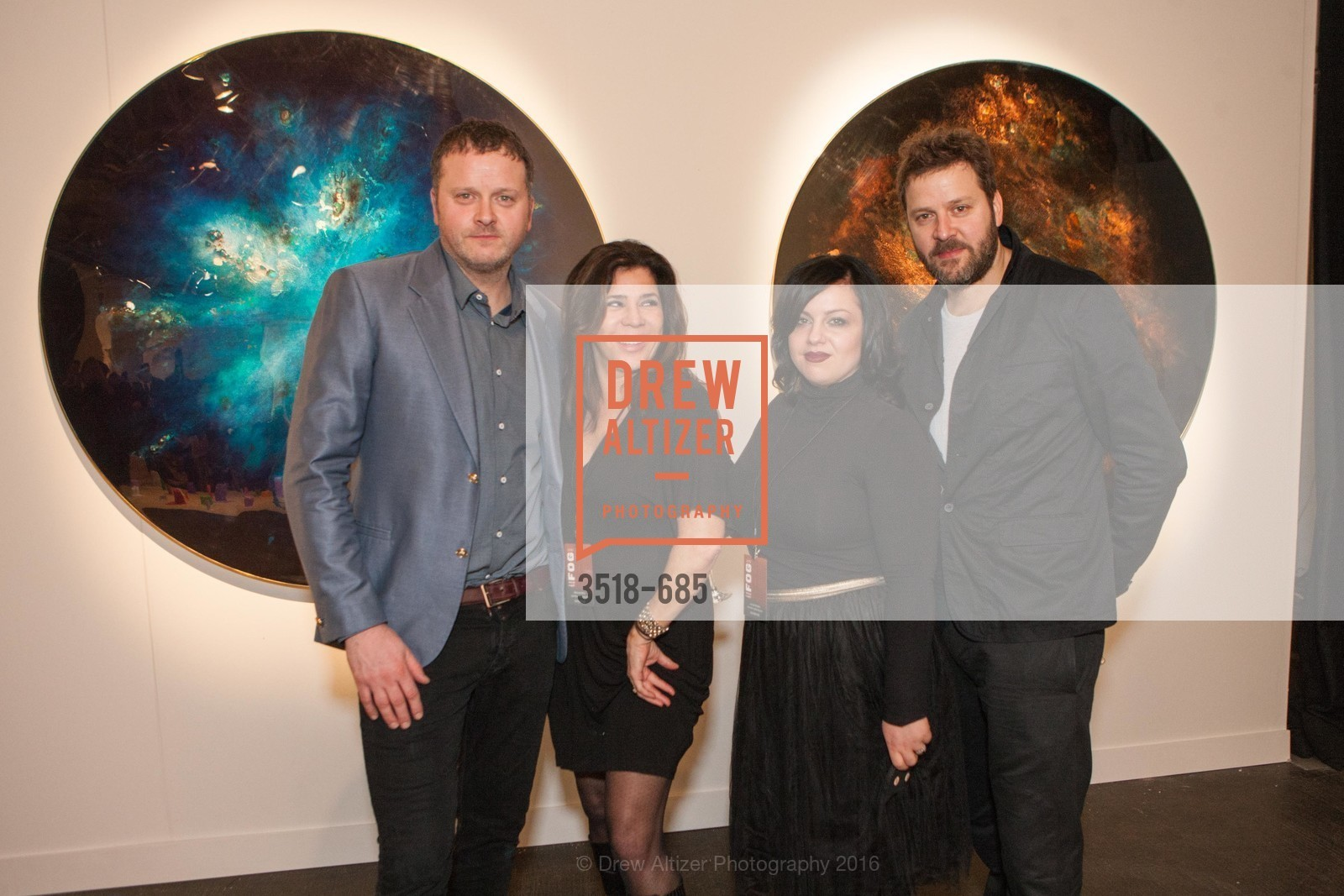 Richard Abell, Maureen Diner, Jordan Betette, Ian Abell, FOG Design+Art Preview Gala, Fort Mason Center Festival Pavilion, January 13th, 2016,Drew Altizer, Drew Altizer Photography, full-service agency, private events, San Francisco photographer, photographer california